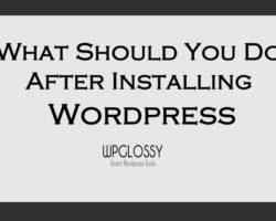 after-wordpress-installation