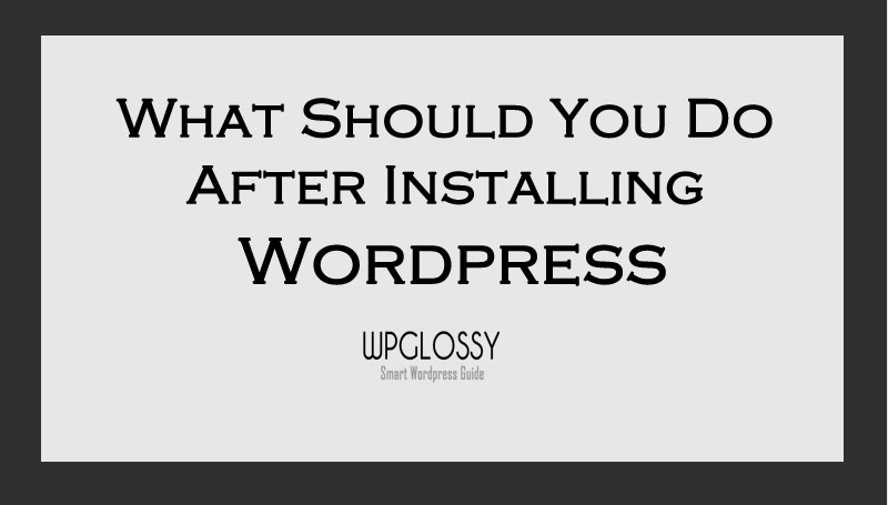 after-wordpress-installation