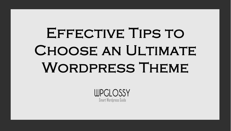 choose-perfect-wordpress-theme