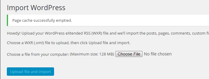 choose-file-import-wordpress-to another