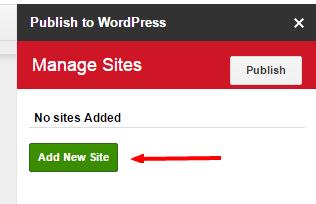 add-new-site-publish-to-wordpress