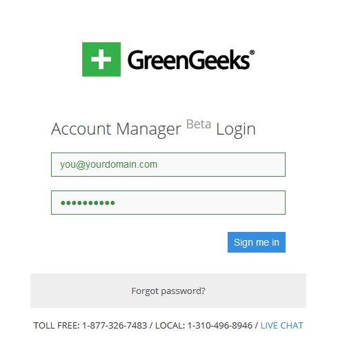 greengeeks-login