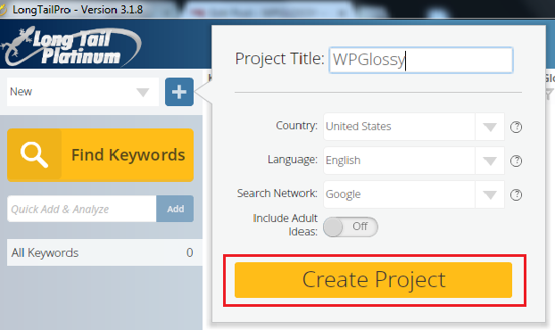 create-project-ltp-keyword-research