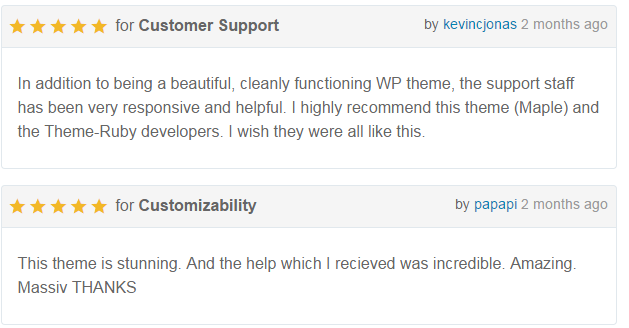 reviews-of-maple-theme
