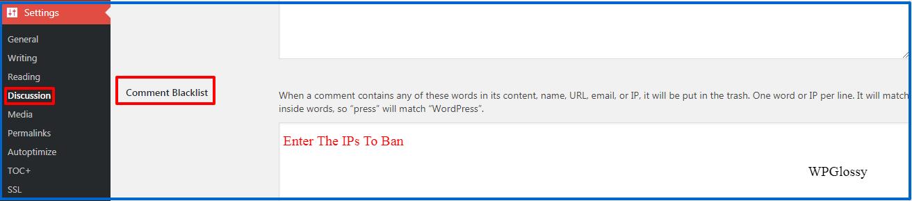block ip wordpress comment