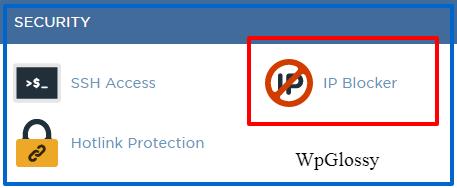 block ip through hosting cpanel