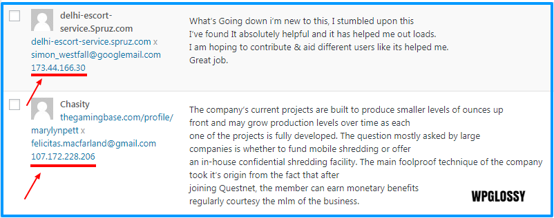 block ip spam comment wordpress