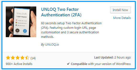 install unloq login verification