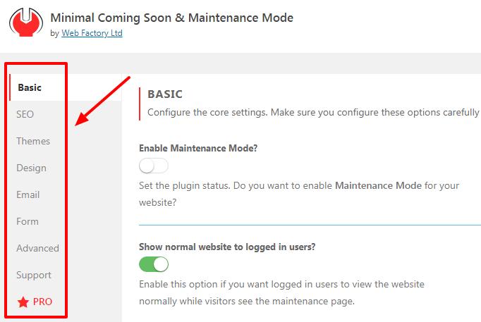 coming-soon-plugin-settings